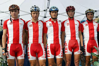 Olympic cycling bulges