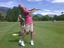Ashley golfing