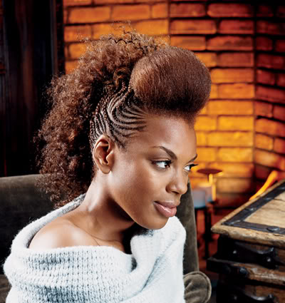 braided mohawk hairstyle. black hairstyles braided.