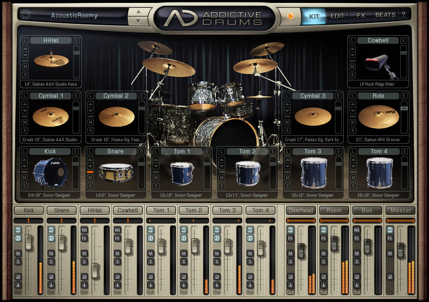 como usar addictive drums