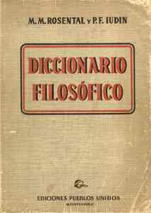 Diccionario Soviético de Filosofía.-