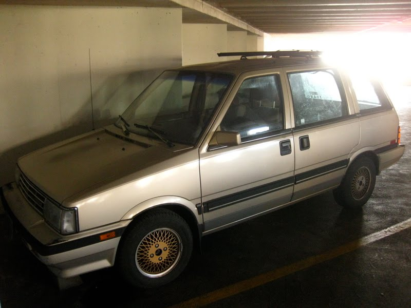 OLD PARKED CARS.: 1987 Nissan Stanza Wagon.
