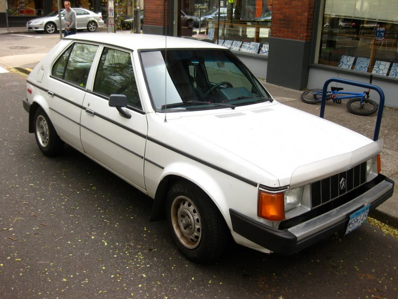 Old Parked Cars 1986 Plymouth Horizon