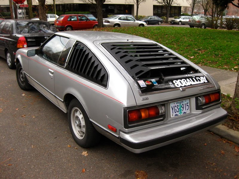 OLD PARKED CARS.: 1980 Toyota Celica Supra Liftback.