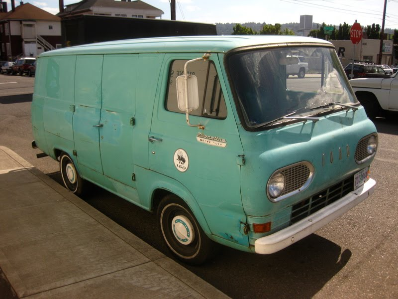 OLD PARKED CARS.: 1967 Ford Econoline Heavy Duty Panel Van.