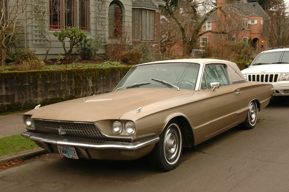 old parked cars 1966 ford thunderbird coupe. Cars Review. Best American Auto & Cars Review