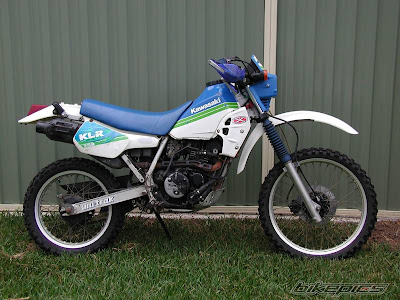 white blue and green klr250 klr 250 1988 1989