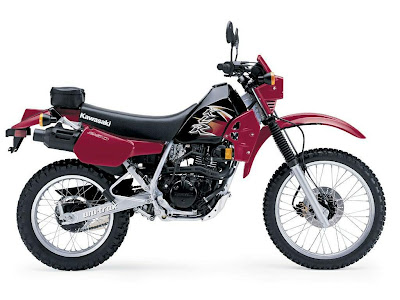 red and black klr 250