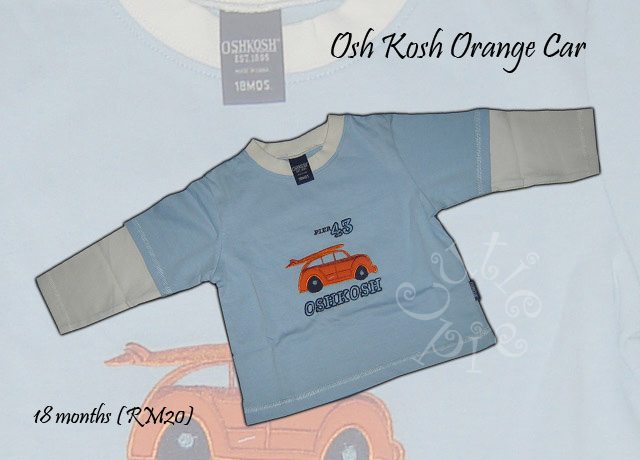 Osh Kosh Orange Car