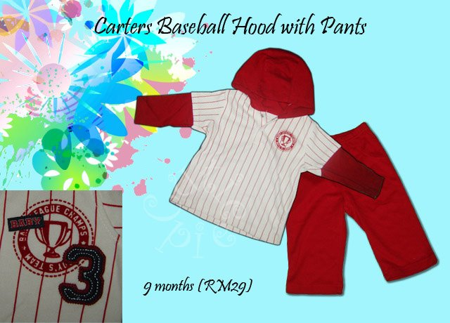 Carters Baseball Hood with Pants
