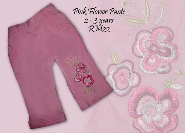 Pink Flower Pant