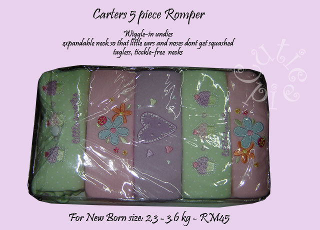 Carters 5 pc Romper
