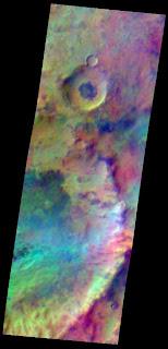Pastel colors swirl across Mars