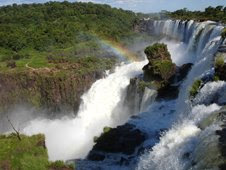 A true cascade of water and turbulence at the Iguazu Falls in Argentina.