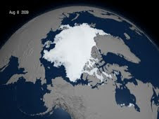 Sea ice cover reaches its minimum extent at the end of each summer.