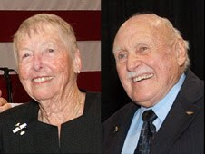 "Retired NASA Dryden employees Betty Love and John McTigue have been honored as ""2009 Eagles"" by the Flight Test Historical Foundation"