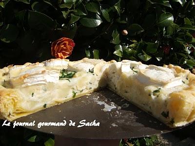 Le journal gourmand de Sacha : Petatou : tarte au chèvre et pommes de ...