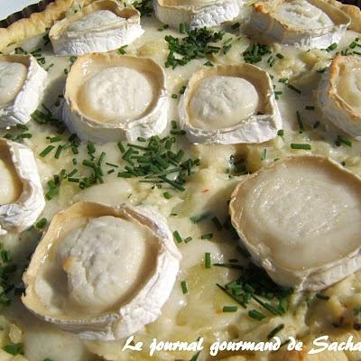 Petatou : tarte au chèvre et pommes de terre