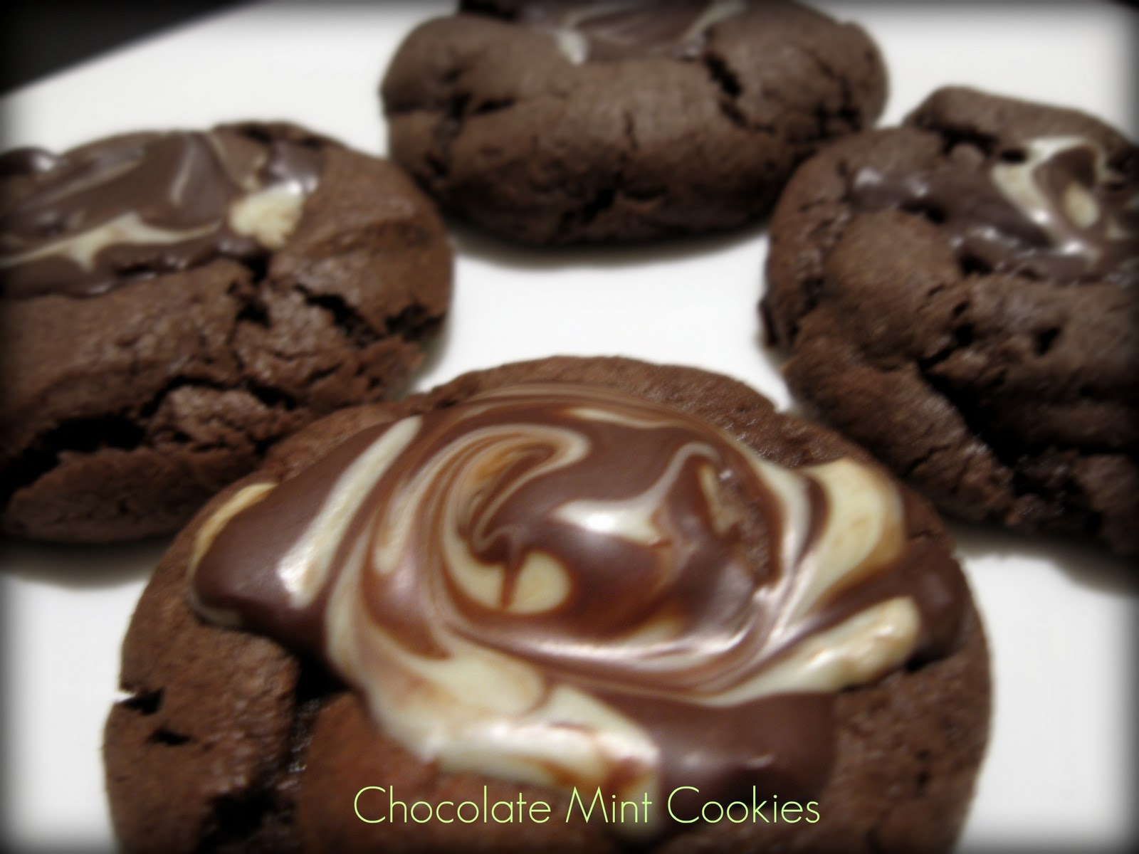 these chocolate mint cookies are my absolute favorite cookie in