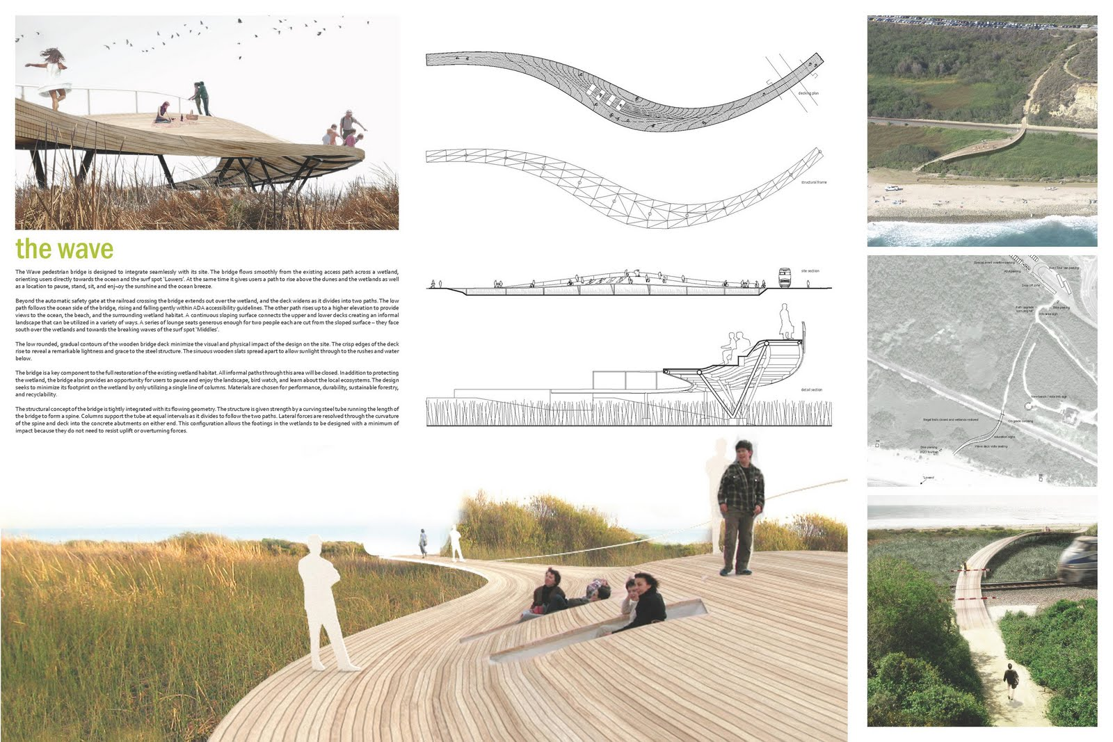 The happy pontist trestles beach footbridge competition for Landscape design competition