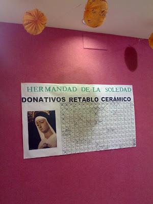 La Soledad promueve una cuestación para realizar un retablo cerámico