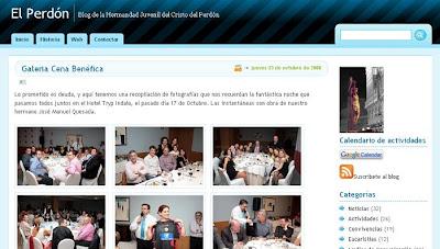 Imágenes de la cena benéfica del Perdón en su blog