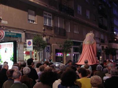 La Virgen de la Paz celebró hoy un Rosario de la aurora por las calles de la feligresía