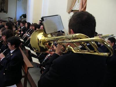La banda de 'Santa Cecilia', de Sorbas, homenajea a su patrona