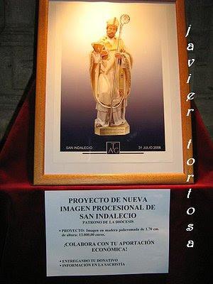 El Cabildo proyecta realizar una nueva imagen de San Indalecio