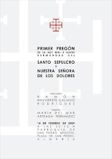 El sábado será el Pregón del Santo Sepulcro