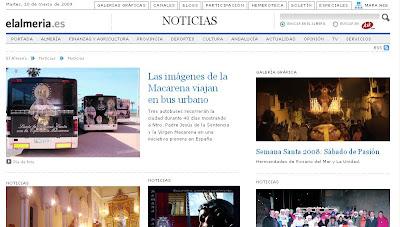 La Semana Santa de 2009 en la edición digital de 'Almería actualidad'