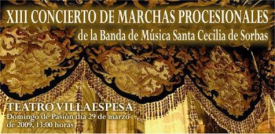 Mañana concierto de Semana Santa de la banda de Sorbas