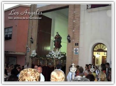 Mañana saldrá en procesión la Virgen de los Ángeles en sus misterios Gloriosos