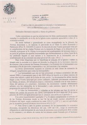 La Vicaría para el Apostolado seglar recuerda a las hermandades sus obligaciones mediante una carta