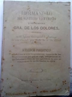Aparecen unas Reglas de la Soledad de 1879 en el archivo de la familia Marín-Navarro