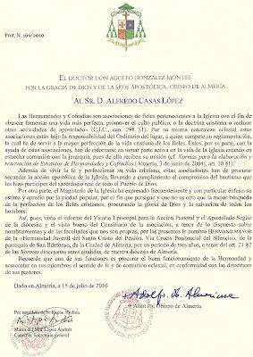 Alfredo Casas recibe el nombramiento como Hermano mayor del Perdón