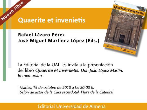 El martes se presenta un libro homenaje a D. Juan López