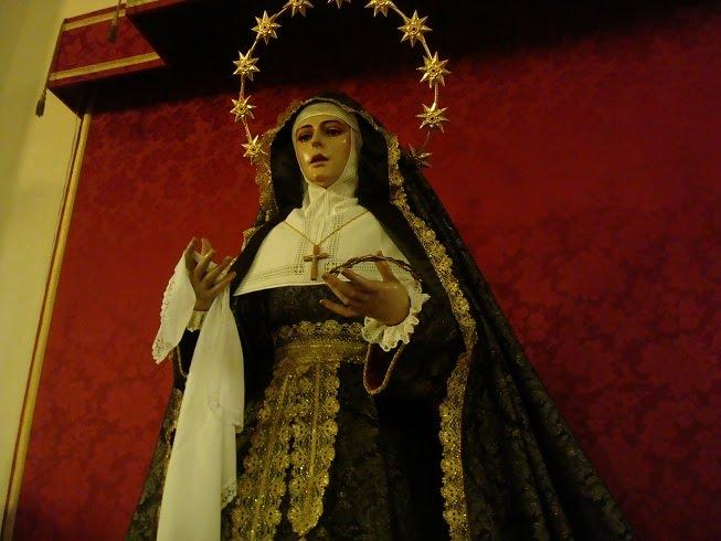 La Virgen de la Unidad de luto