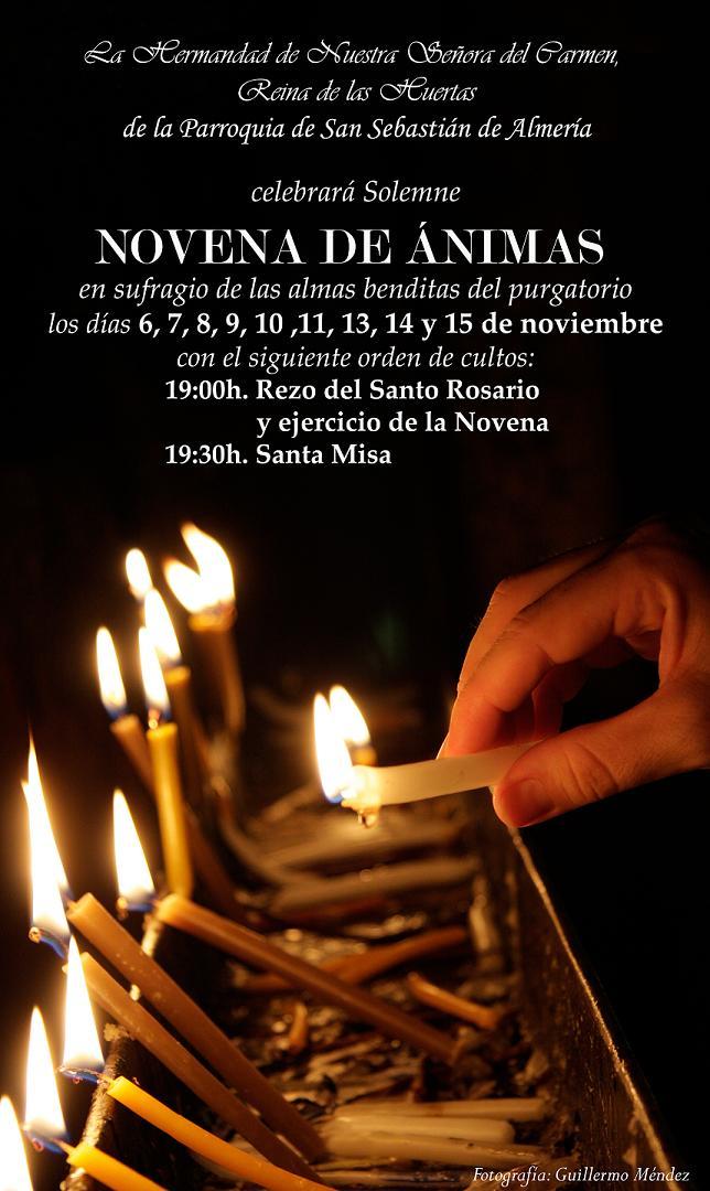 El sábado comienza la Novena de Ánimas del Carmen de San Sebastián