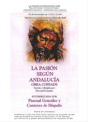 El domingo se representará 'La Pasión según Andalucía' a beneficio del Silencio