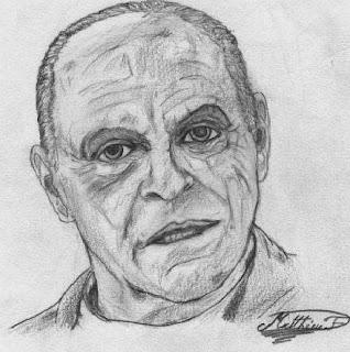 L'antre de Morgor Hannibal+Lecter+dessin+crayon