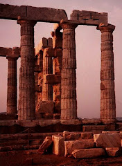 Sounio , Greece at Sunset