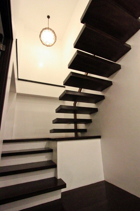 Unique minimalist staircase from wood