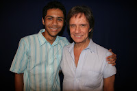 James Lima e Roberto Carlos, após show realizado no dia 08 de junho de 2009.