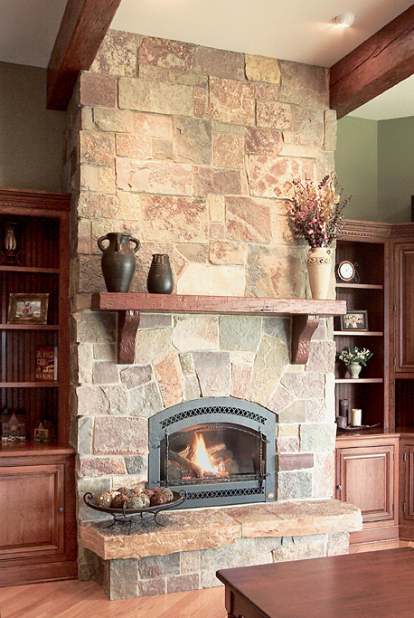 Old style fireplace deco pinterest fireplaces decor for Rustic rock fireplace designs