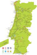 Mapas Caminhos de Ferro. Mapa das linhas entre 19001967: (programas aventura cp copy)