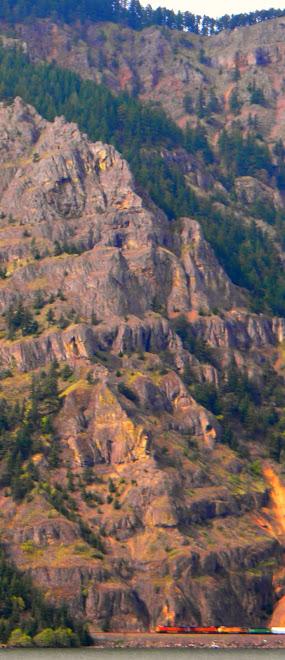 Cliffs in Columbia Gorge