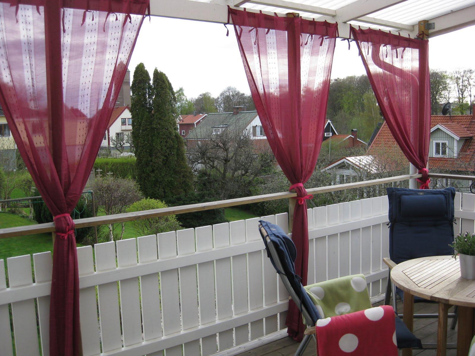 Hallontrollets trädgård: pyntad altan!