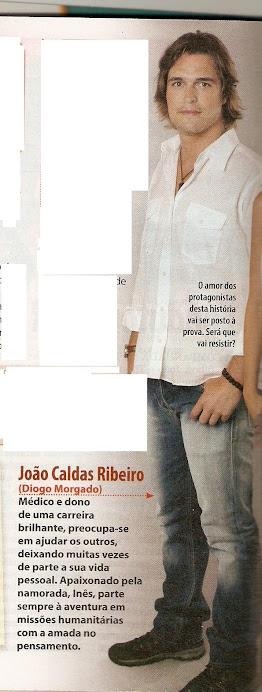 """Personagem de Diogo Morgado na novela """" Laços de Sangue"""""""