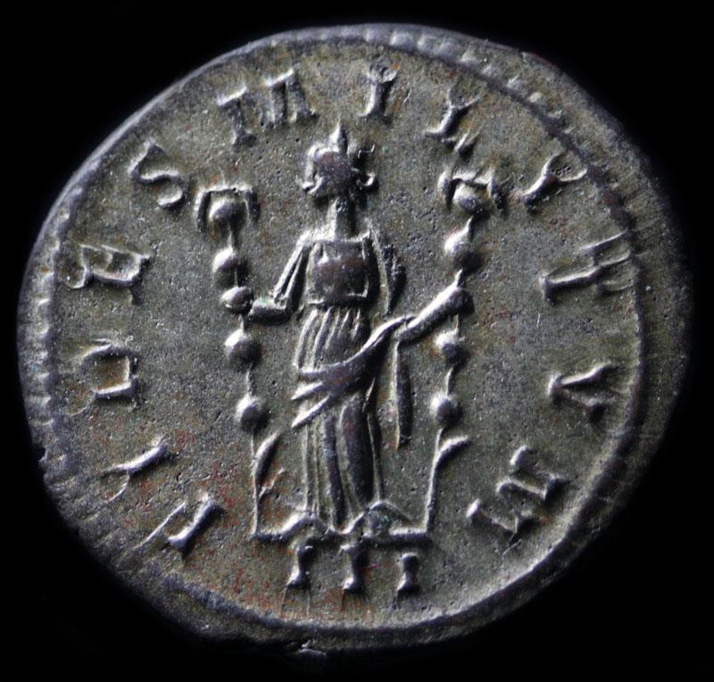 FIDES MILITVM de Tetrico I Probus+antoninien+Lyon+fides+militum